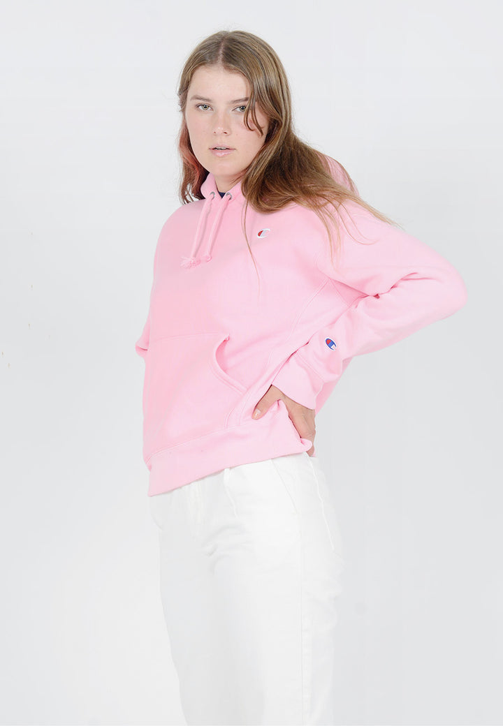 Champion Womens Reverse Weave Hoodie - pink candy — Good as Gold