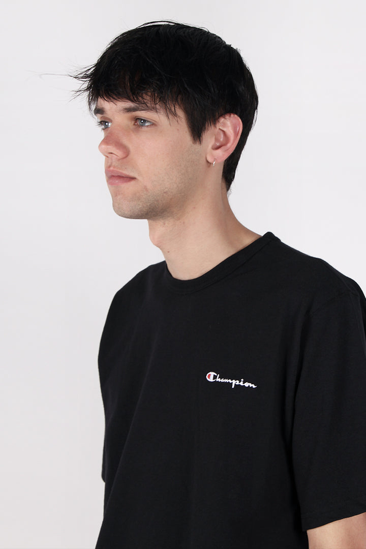 Champion Script Logo Heritage T-Shirt - black | GOOD AS GOLD | NZ