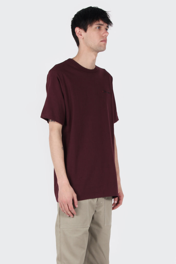 Champion Script Logo Heritage T-Shirt - team maroon | GOOD AS GOLD | NZ