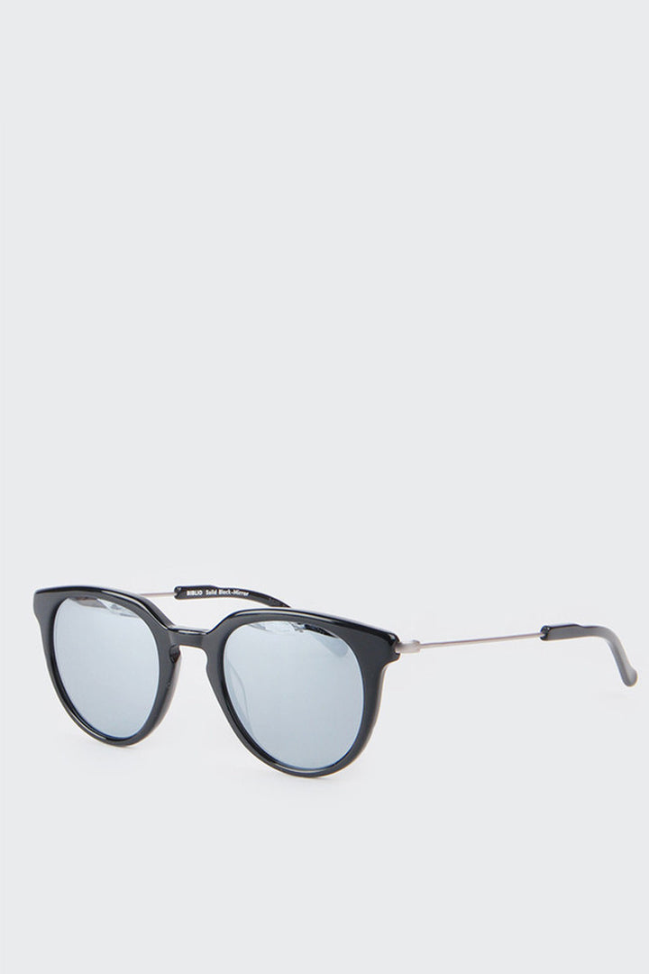 Kaibosh Biblio Sunglasses - shiny black/silver mirror | GOOD AS GOLD | NZ