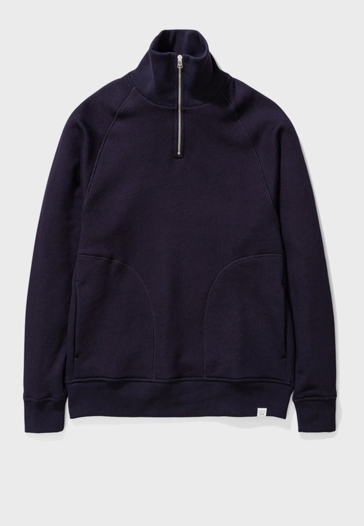 Norse Projects | Alfred French Terry Sweater - dark navy | Good As Gold, NZ