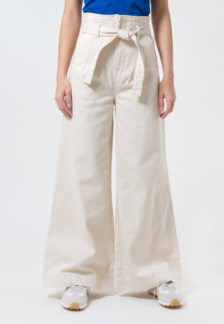 Peripheral Wide Leg Pant - chalk