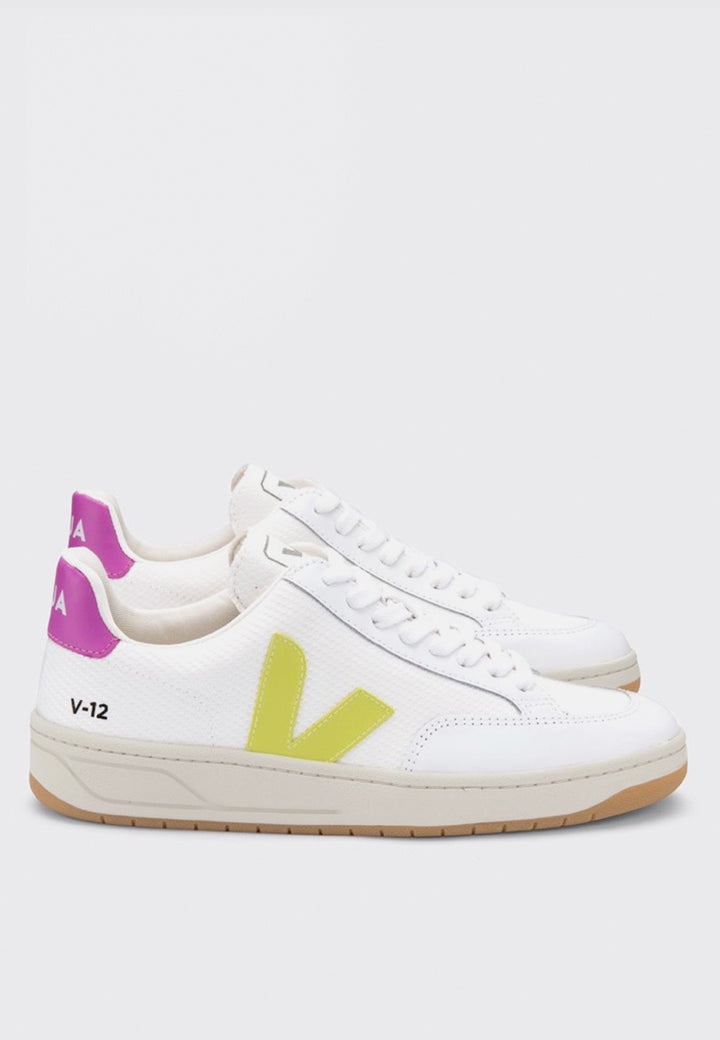 Veja | V12 B Mesh - white jaune/fluo/ultra violet | good As Gold, NZ
