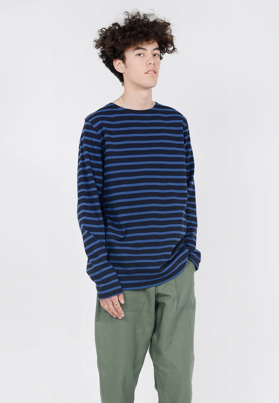 Norse Projects Godtfred Compact Long Sleeve T-Shirt - true blue - Good As Gold