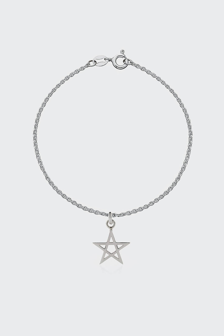 Meadowlark, Pentagram Charm Bracelet - silver | GOOD AS GOLD | NZ