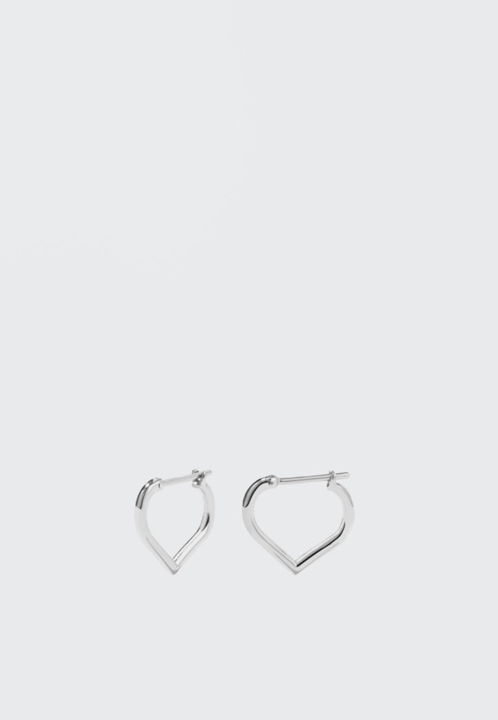 Meadowlark Love Hoop Earrings Small - silver - Good As Gold