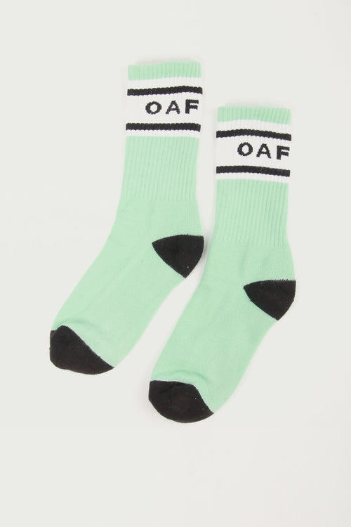 Oaf Mint Socks - green