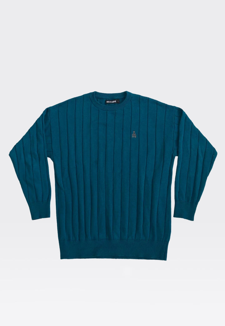 A Knit Jumper - teal
