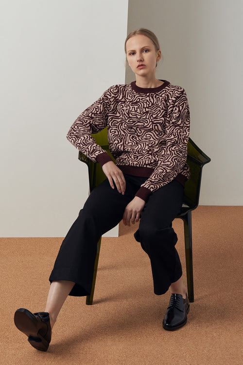 Kowtow Maze Knit Sweater - maze print — Good as Gold