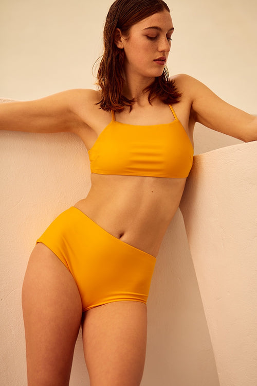 Swim High Waisted Brief - marigold