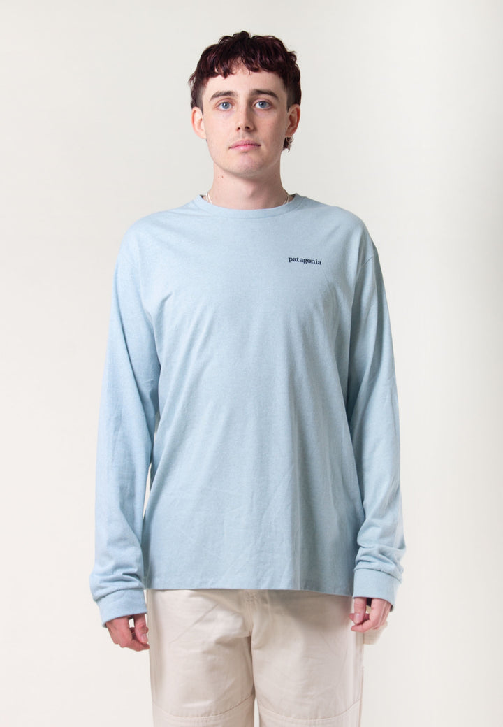 Line Logo Ridge Responsibili Long Sleeve - sky blue