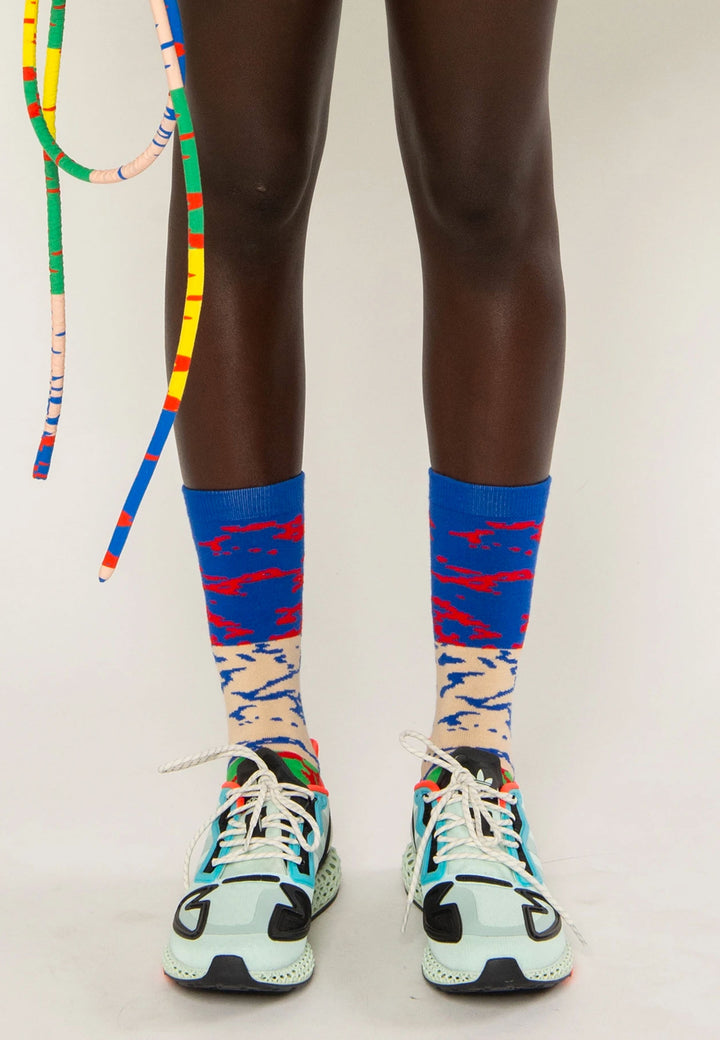 Stripe Lining Socks - multi