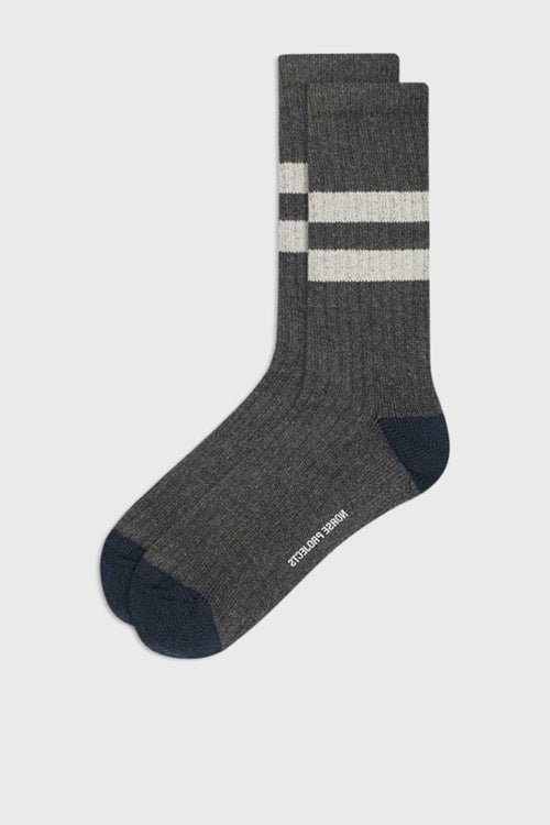 Norse Projects Bjarki Cotton Sport Socks - charcoal melange - Good As Gold