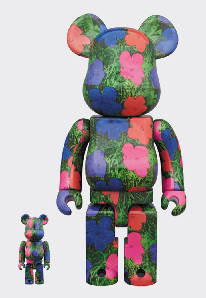 Be@rbrick Warhol Flower - 100% + 400% set