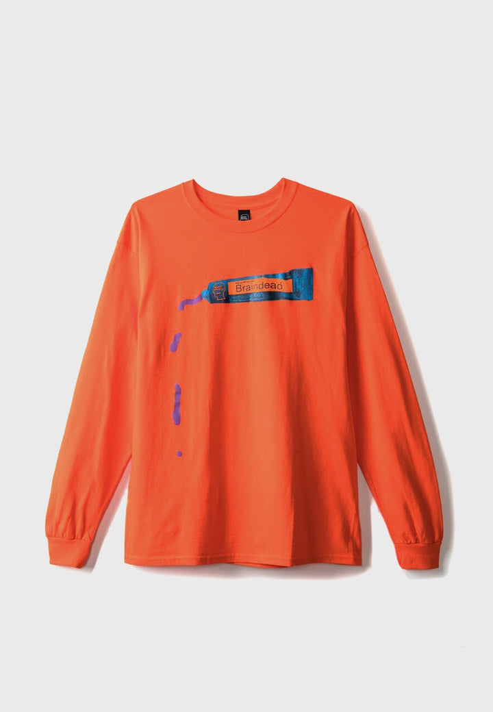 Ooze Long Sleeve T-Shirt - Emergency Orange
