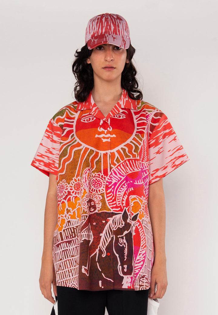 Tarot Shirt The Sun - red