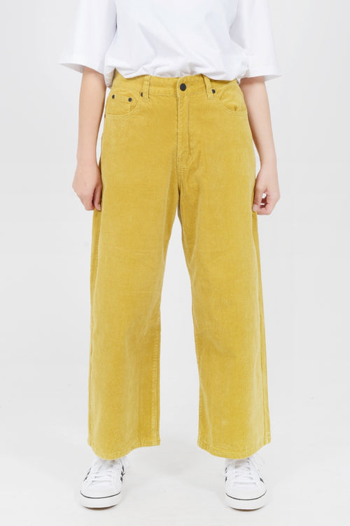 Lazy Oaf Yellow Cord Pants - yellow - Good As Gold