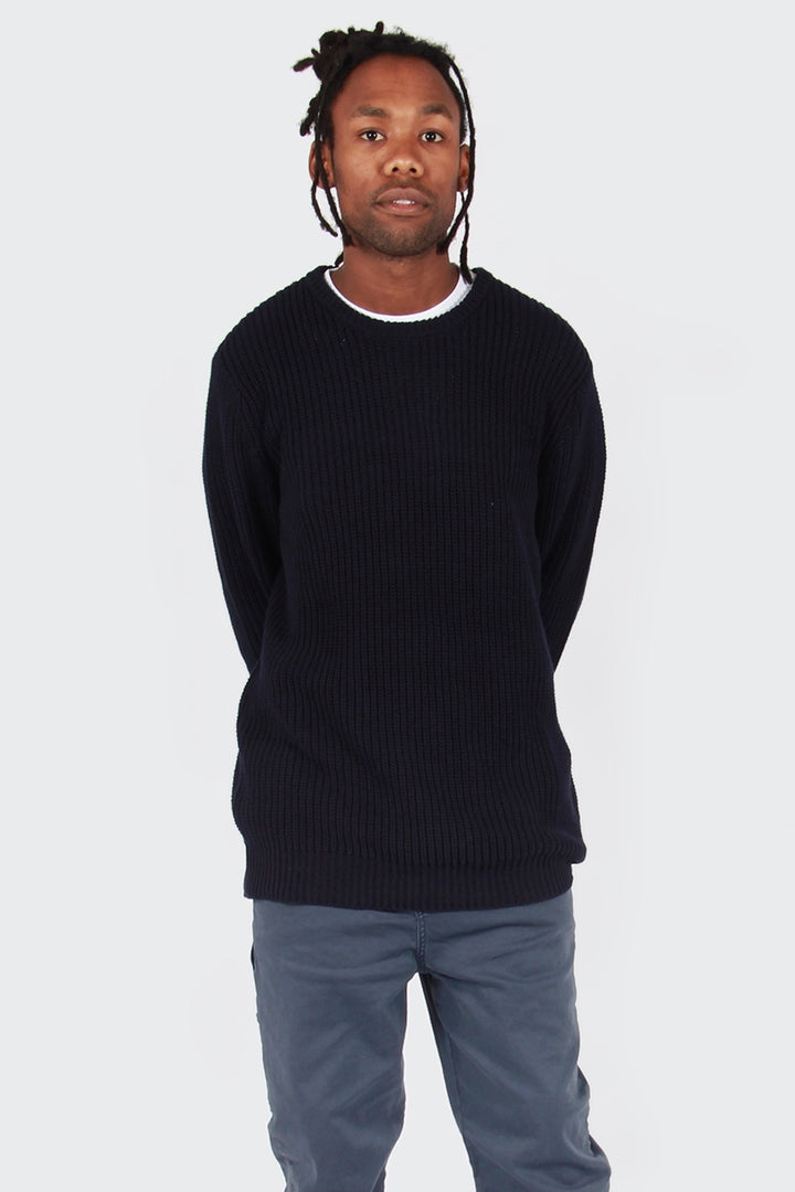 Crew Knit Sweater - navy