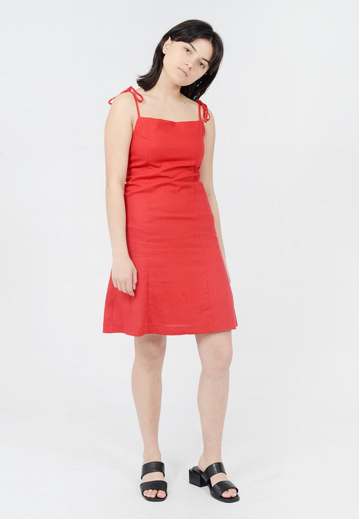Rollas Bridget Tie Dress - red - Good As Gold