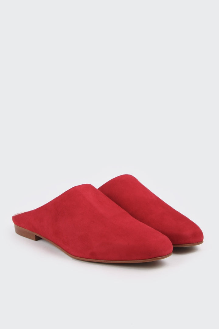 Intentionally Blank Library Mule - red suede | GOOD AS GOLD | NZ