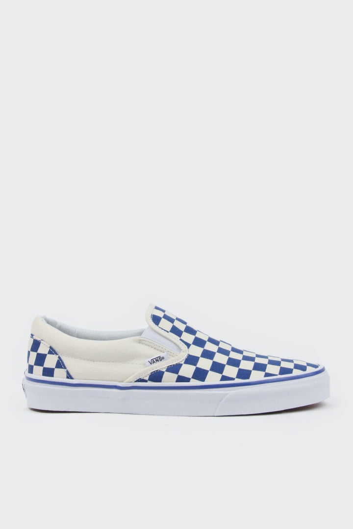 Vans Primary Check Classic Slip On - blue | GOOD AS GOLD | NZ