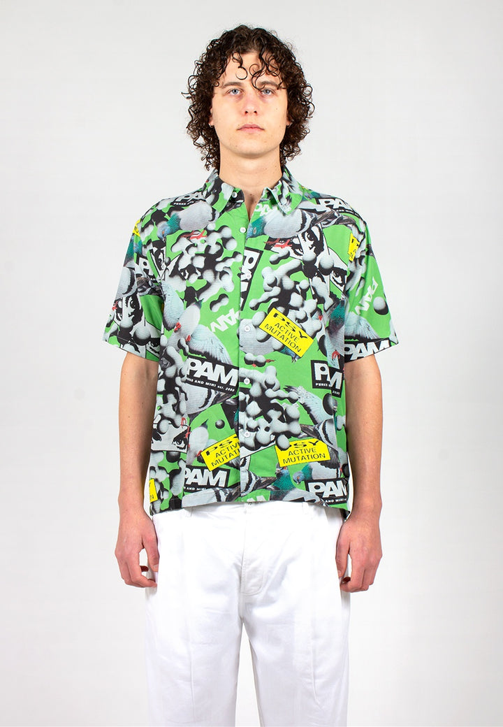 Collage Short Sleeve Shirt - cosmic pigeon