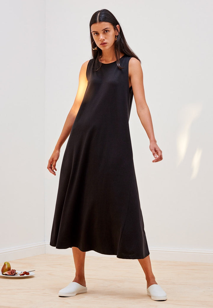 Kowtow Building Block Tank Swing Dress - black | GOOD AS GOLD | NZ
