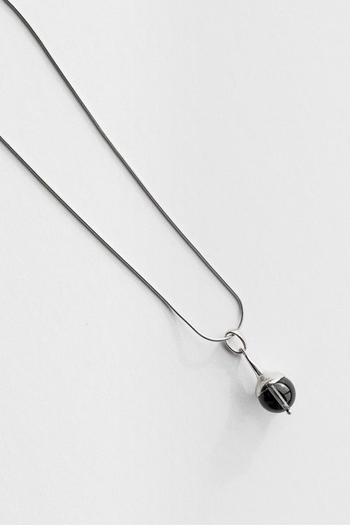 Jasmin Sparrow Lulu Necklace - silver/smokey quartz - Good As Gold