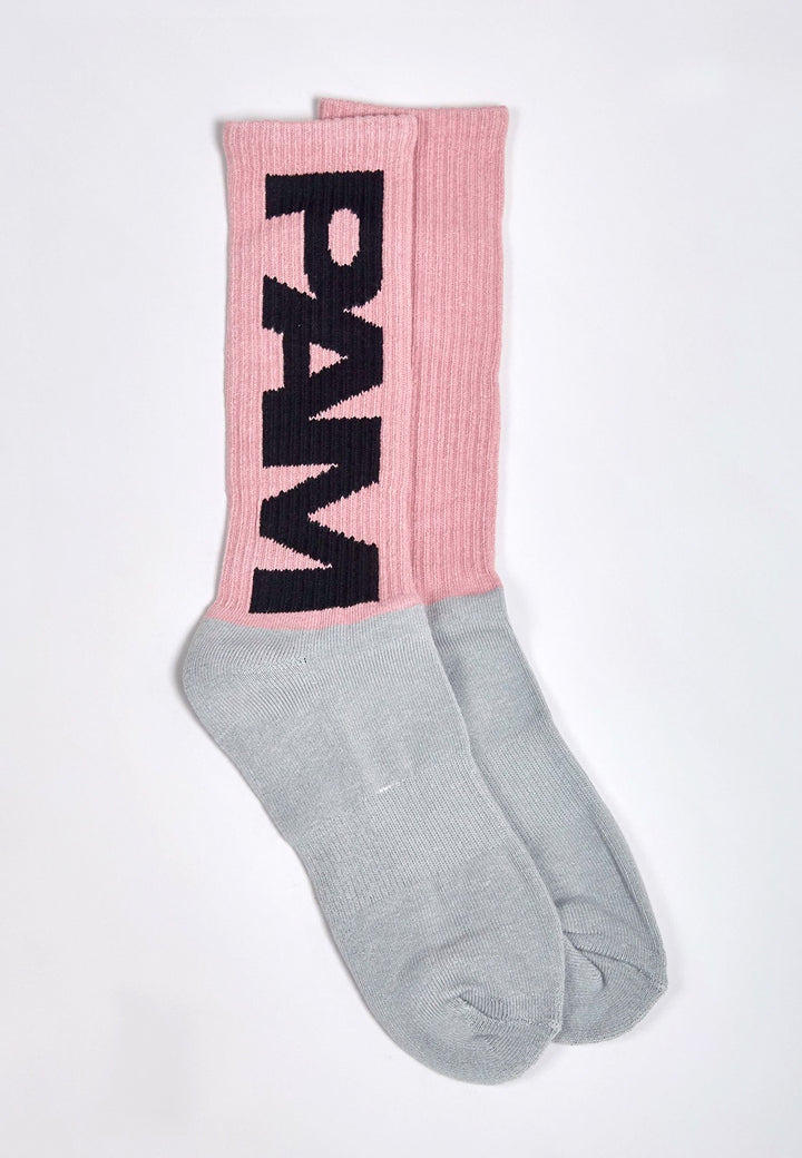 Perks & Mini | P.A.M B.T.C Socks - floss/grey | Good As Gold, NZ