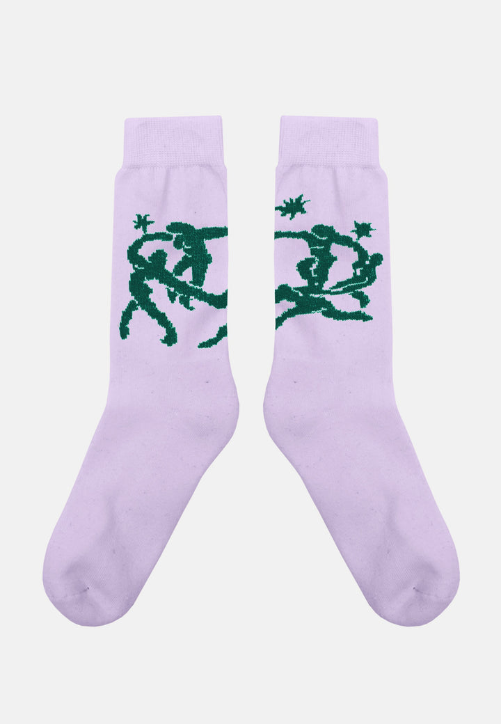 Foot Fetish Club Socks - lavender
