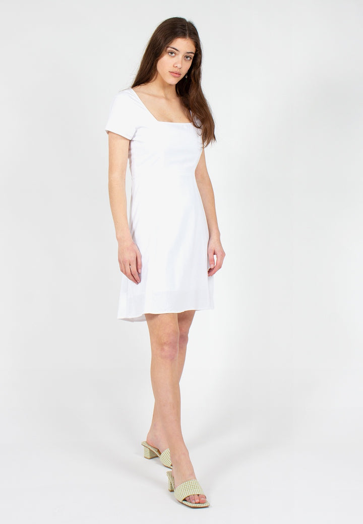 Rollas | Roxanne Linen Dress - white | Good As Gold, NZ