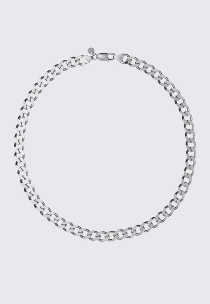 Small Lucien Chain Necklace - silver
