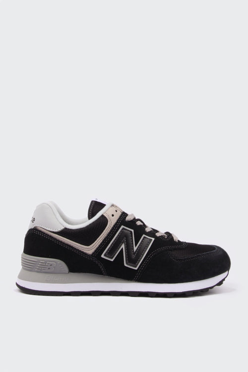 New Balance Womens 574 Classic - black/white suede | GOOD AS GOLD | NZ