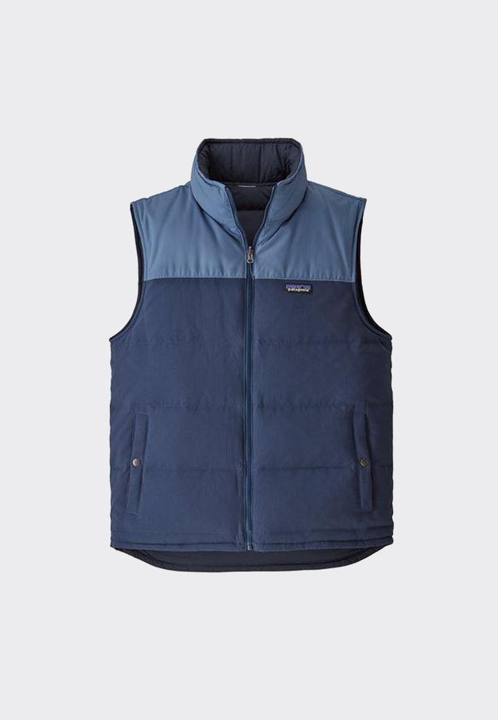 Reversible Bivy Down Vest - stone blue/woolly blue