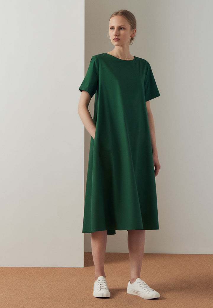 Triangle Dress - evergreen