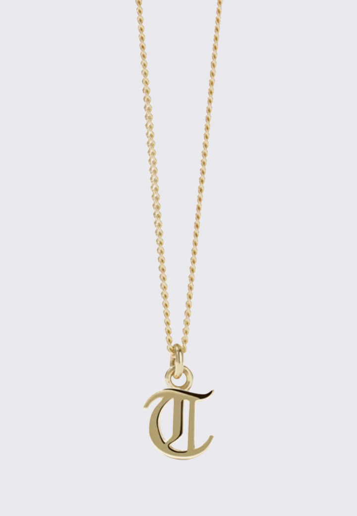 Mini Letter Necklace - gold