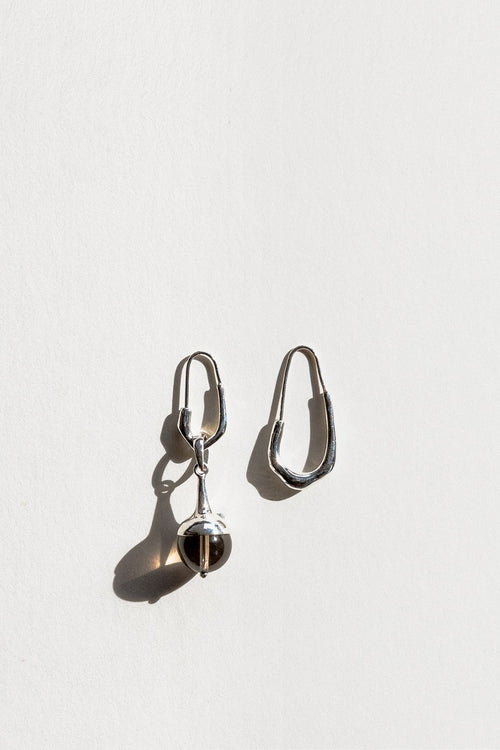 Jasmin Sparrow Lulu Earrings - silver/smokey quartz - Good As Gold