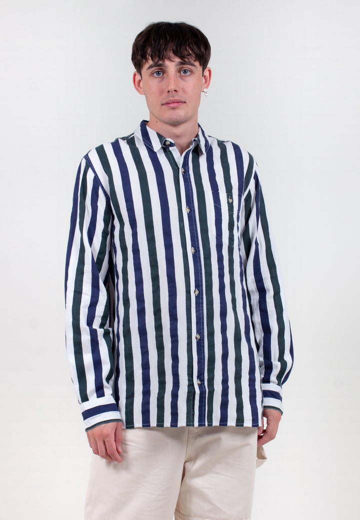 Men At Work Herringbone Shirt - natural stripe