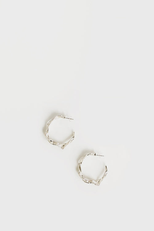 By Nye Structured Hoop Earrings - silver - Good As Gold