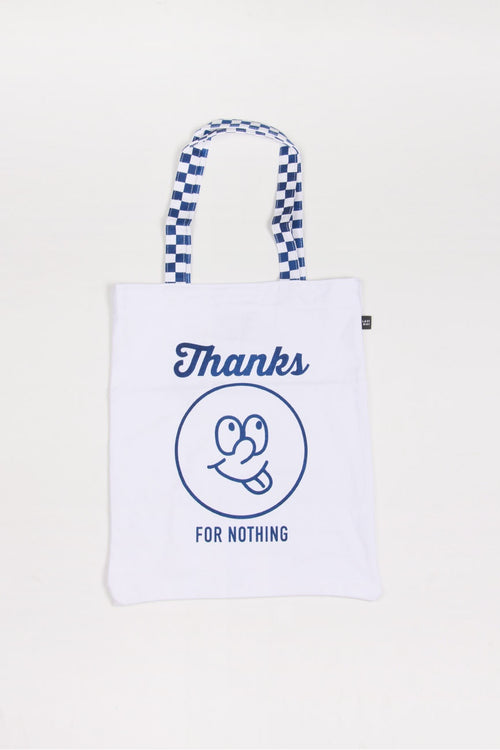 Womens Lazy Oaf Thanks For Nothing Tote Bag white – Good as Gold NZ