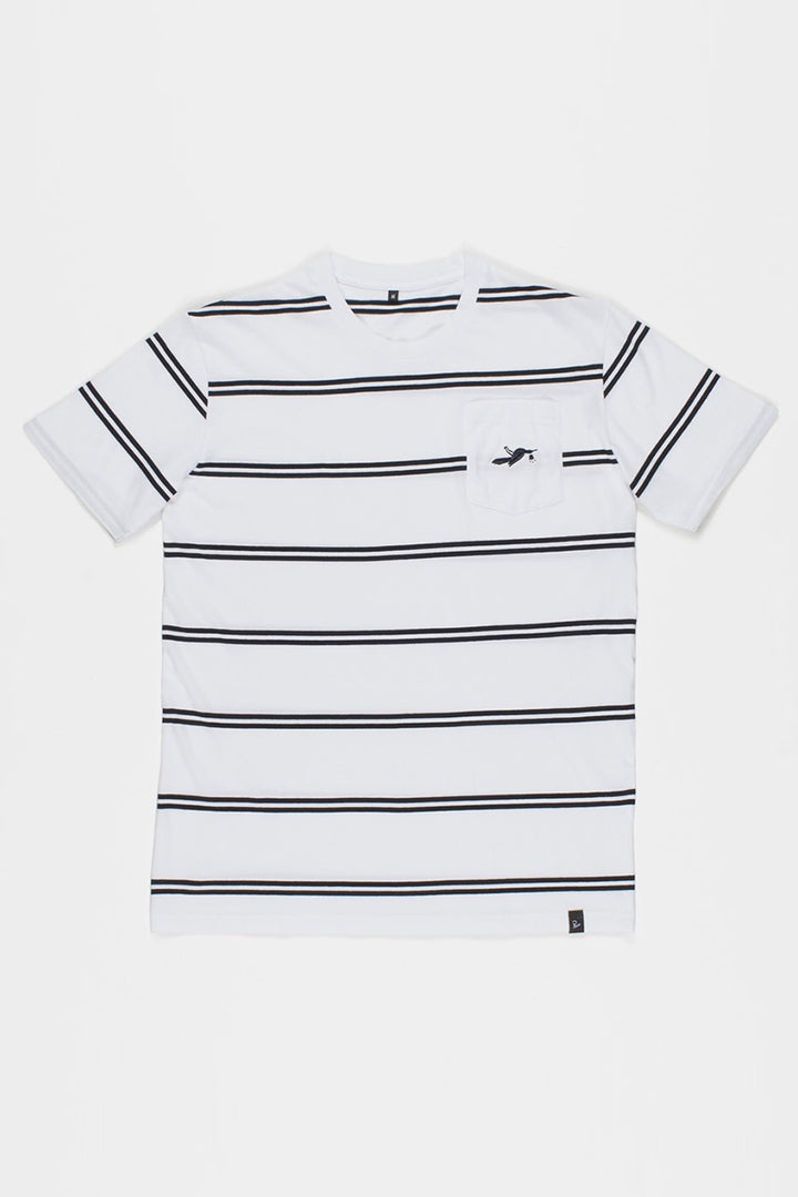 Parra Fallen Pocket T-Shirt - white | GOOD AS GOLD | NZ