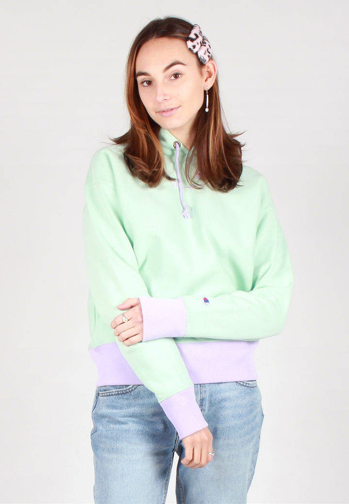 Champion Europe Womens Reverse Weave Bi-Colour Hoodie - mint/purple - Good As Gold
