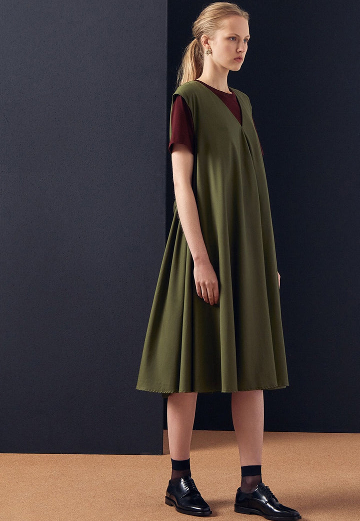Kowtow Notebook Dress - moss — Good as Gold