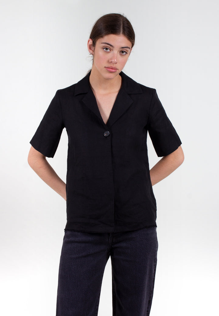Gallery Linen Shirt - black