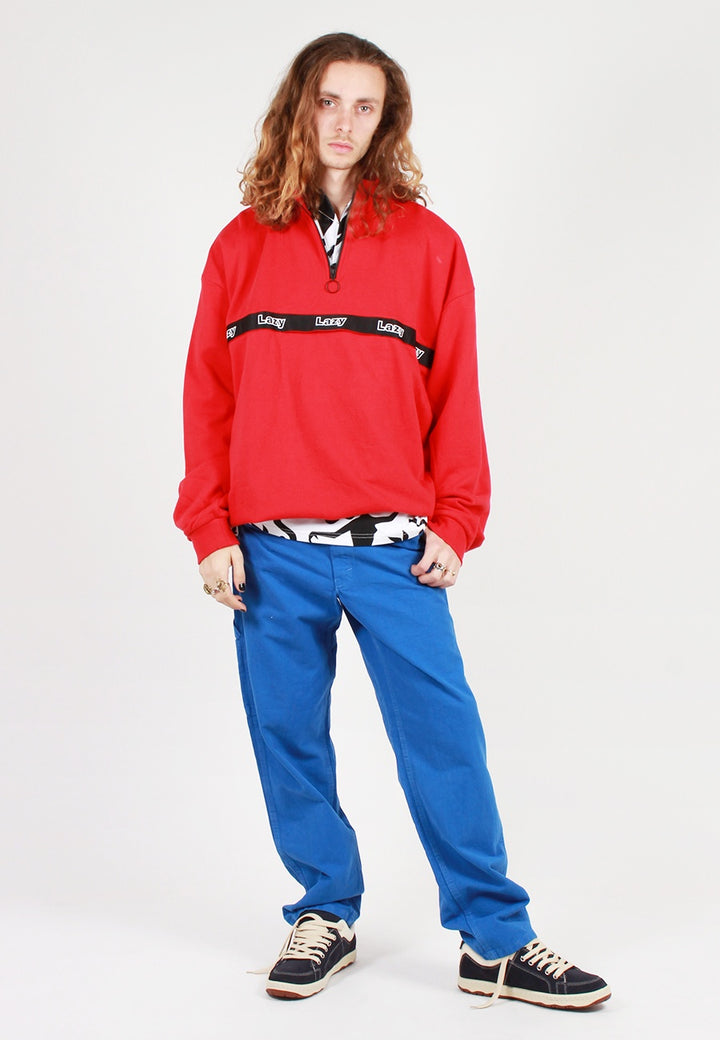 Zip Up Sweatshirt - red