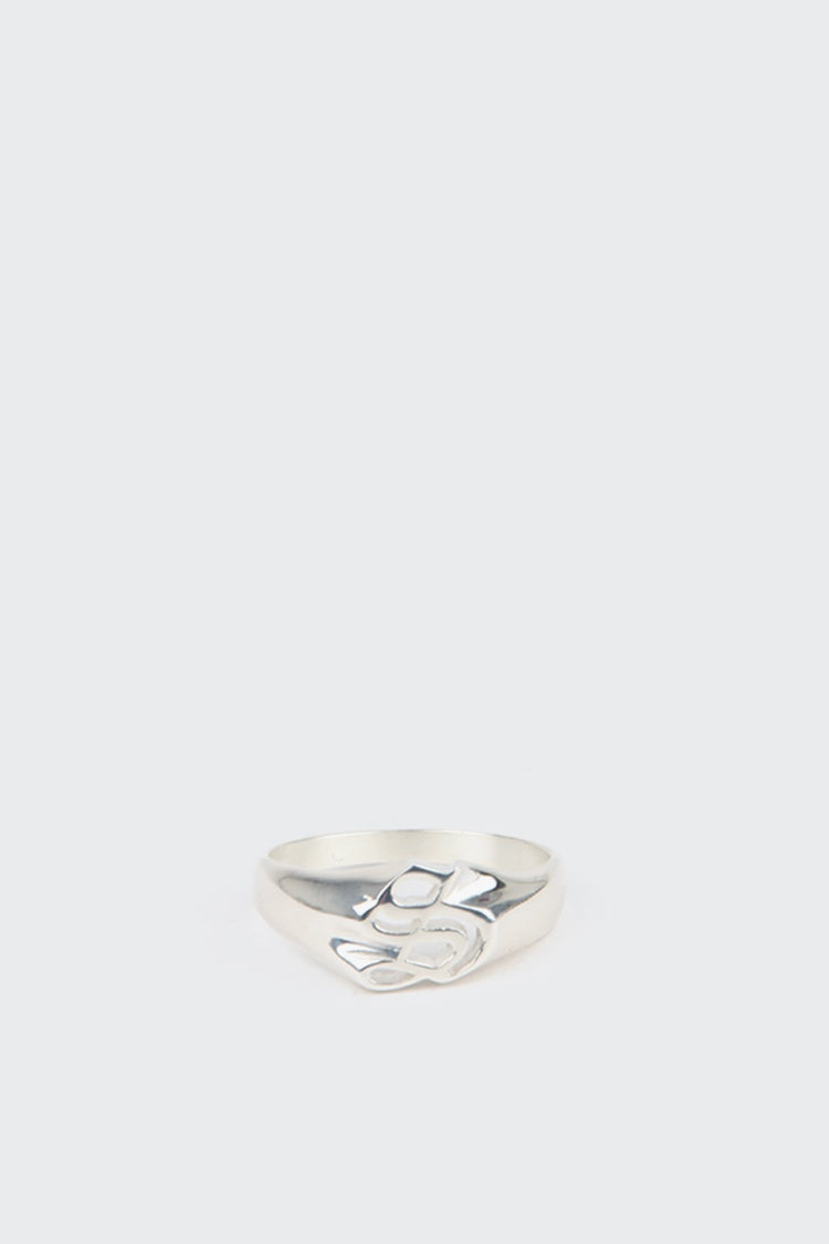 Meadowlark Capital Letter Signet Ring - silver S | GOOD AS GOLD | NZ