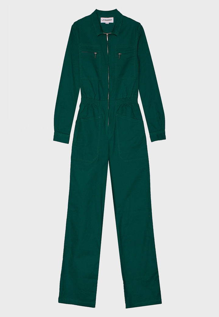 L.F.Markey | Danny Longsleeve Boilersuit - forest green | Good As Gold, NZ