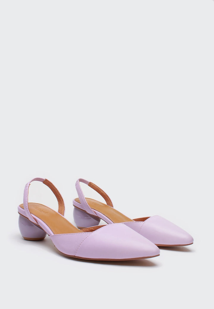 Jagger Sling Leather Pump - lilac — Good as Gold