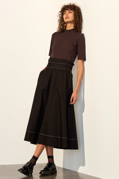 Kowtow Audition Skirt - black | GOOD AS GOLD | NZ