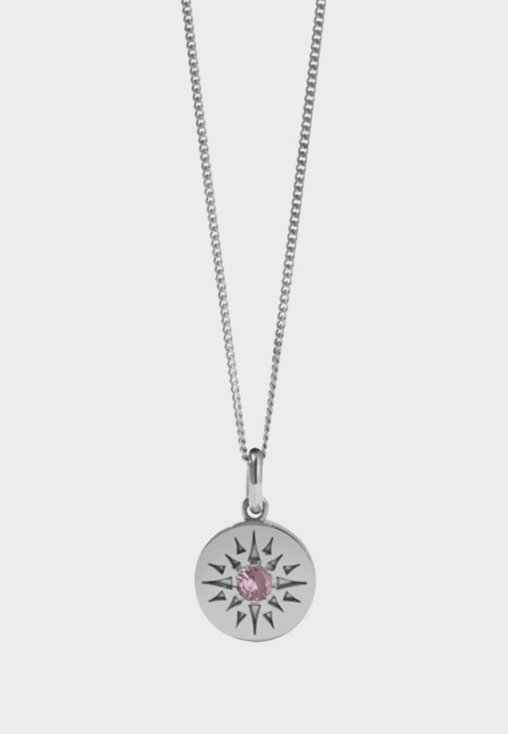 Meadowlark Medium Ursa Necklace - silver/pink tourmaline - Good As Gold